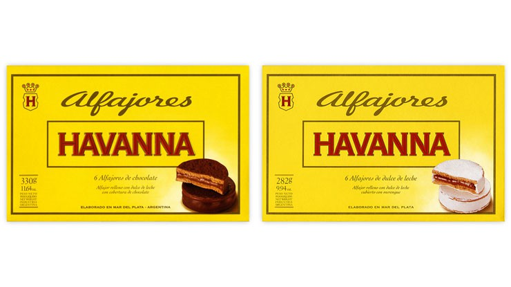 Die Alfajores Havanna existieren mit Schokolade oder mit Meringue.